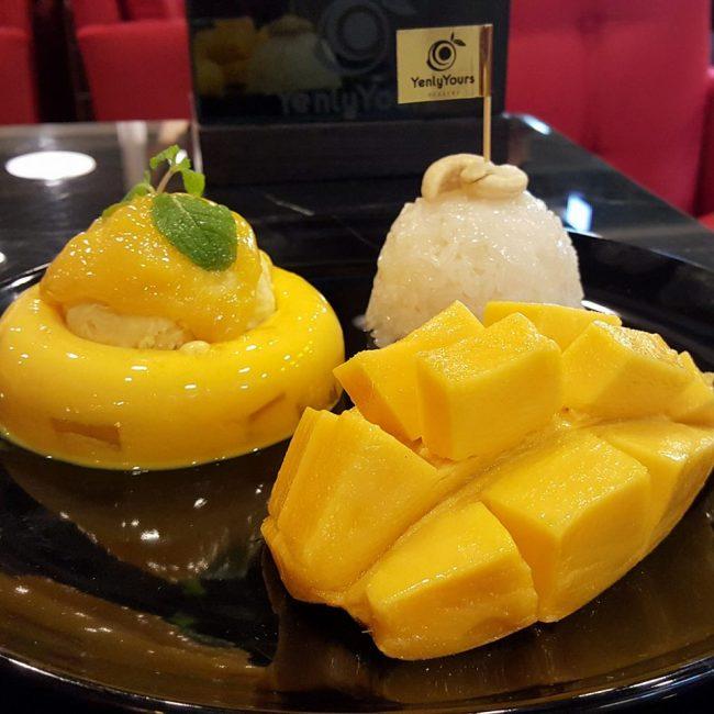 泰國, 芒果糯米飯, 芒果, 甜品, 美食, 曼谷
