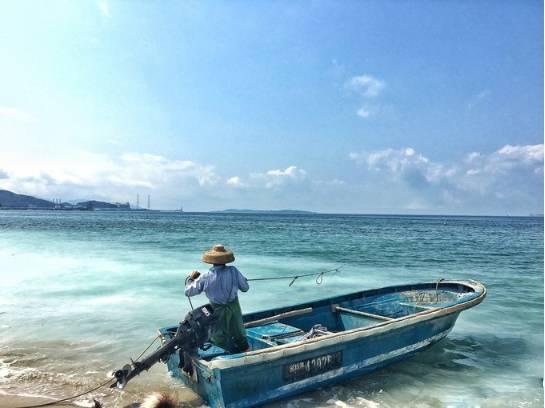 深圳, 海灘, 沙灘, 放假, 渡假, 官湖角, 中國