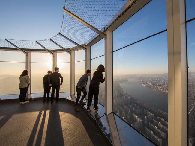 韓國, 首爾, 樂天SKY TOWER, 觀景台, 景點, 最高, 樂天世界塔