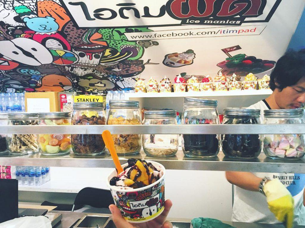 泰國曼谷 ,Siam Square 暹邏廣場 ,Food+plus美食街, 炒雪糕, Ice Manias, 美食