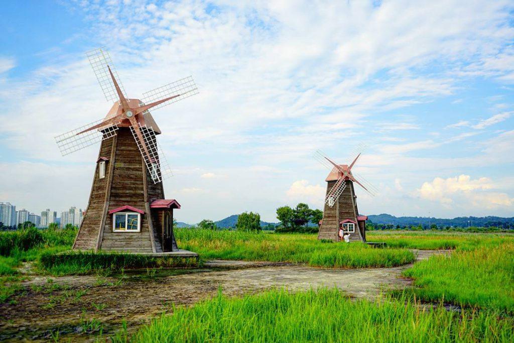 韓國首爾, 荷蘭風車, 景點, 蘇萊濕地生態公園
