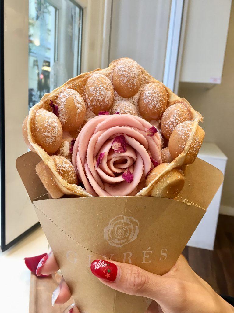 玫瑰花雪糕雞蛋仔
