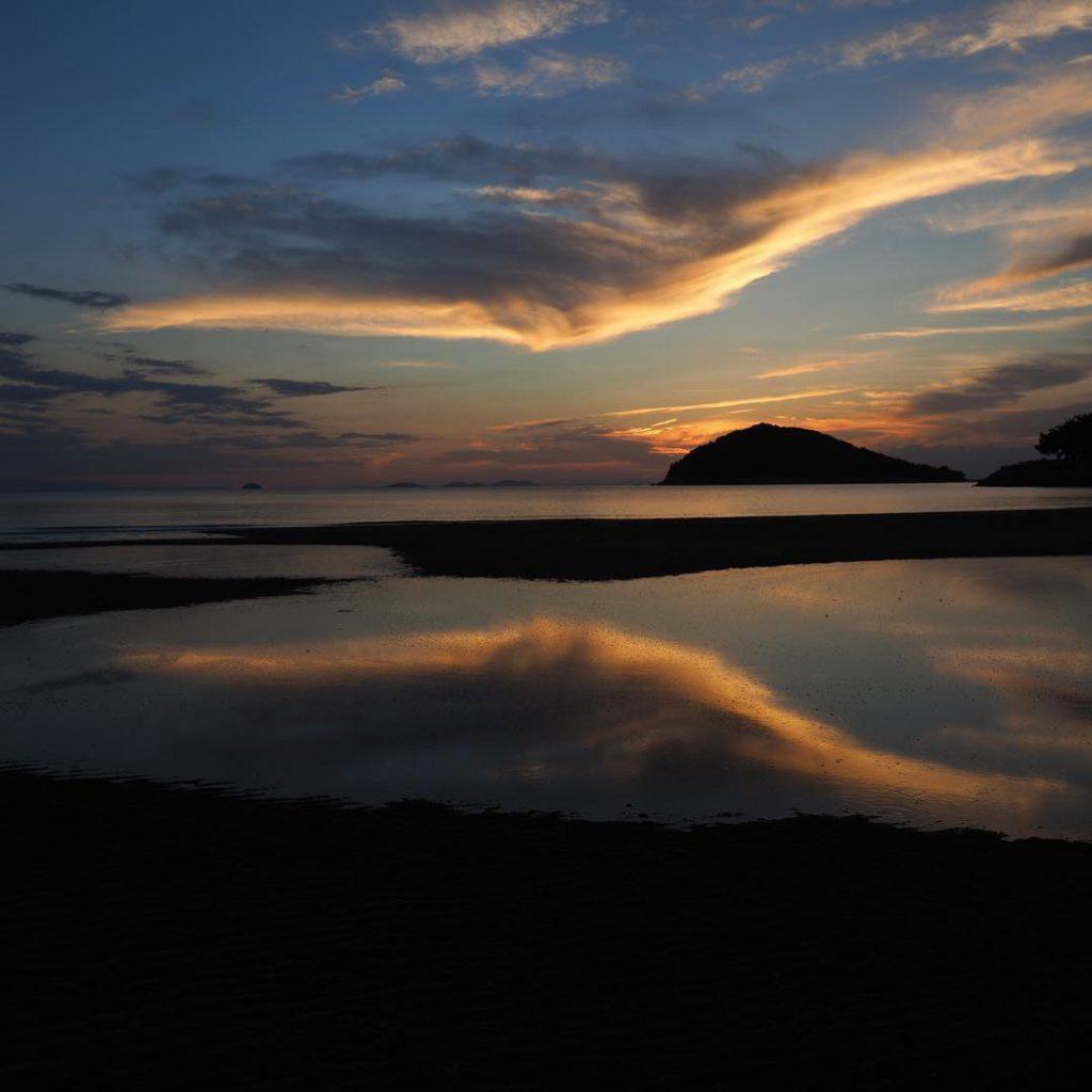 日本香川, 天空之鏡, 父母濱