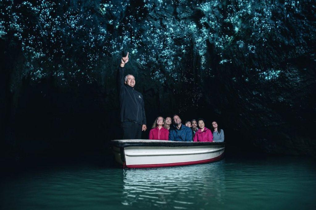 紐西蘭 Waitomo Glowworm Caves 螢火蟲洞藍色滿天星