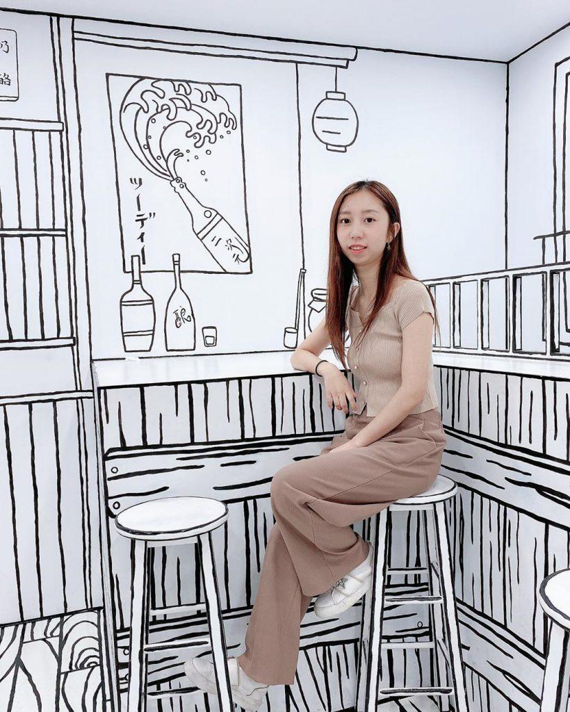 遊台灣美食!台灣首間黑白手繪2D漫畫風cafe! 2D Taiwan